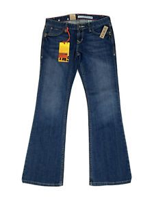 DKNY Women's Blue Stretch Low Rise Flare Time Square Jeans Size: 28 S