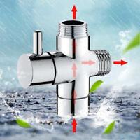 1/2 Inch Three-Way Bathroom Angle Valve Shower Arm Diverter Valve for Water Flow