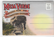 VINTAGE-POSTCARD FOLDER-MESA VERDA NATIONAL PARK AND SOUTHWESTERN COLORADO O