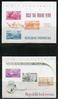 INDONESIA 1961 VISIT THE ORIENT YEAR SET OF  FOUR  SOUVENIR SHEETS  MINT NH
