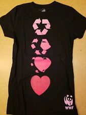 Chaser Recycle Love WWF World Wildlife Foundation T-shirt Slim L Large Cttn Poly