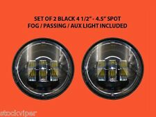 """PAIR 4-1/2"""" BLACK LED AUXILIARY SPOT FOG PASSING LIGHT LAMP HARLEY MOTORCYCLE"""