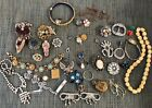 Antique+Deco+Victorian+Vintage+Craft+Repair+Jewelry+Lot+Sterling+Silver+Goldfil