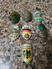 Vintage Walking Stick Badges And Shields,Preowned,German Wanderstock
