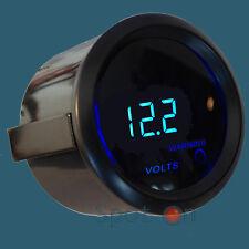 """2"""" Digital Volt Gauge Blue LED Smoke Lens - Black Trim"""