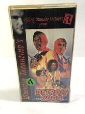RARE OOP DETROIT 9000 VHS VIDEO TAPE QUENTIN TARANTINO BLAXPLOITATION CULT MOVIE
