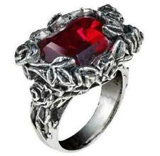Blood Rose episcopal ring Alchemy Gothic England swarovski crystal pewter roses