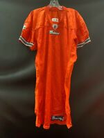 MIAMI DOLPHINS GAME USED REEBOK BLANK ON FIELD ORANGE JERSEY SIZE 46 YEAR 2010