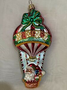 Christopher Radko UP UP AND AWAY Hot Air Balloon Ornament 3011032 2005