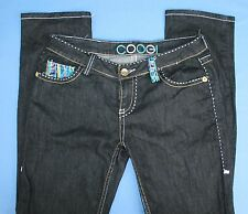 Coogi Womens Juniors Low Rise Skinny Jeans Sz 7 / 8 Embroidery Fashion Denim