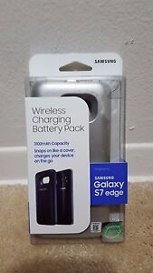 NEW SAMSUNG WIRELESS CHARGING BATTERY PACK SAMSUNG  GALAXY S7 EDGE SILVER