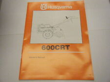 NEW HUSQVARNA 600CRT OWNERS MANUAL