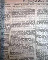 "LOUISA MAY ALCOTT Novelist & Poet ""Little Women"" Book Fame DEATH 1888 Newspaper"