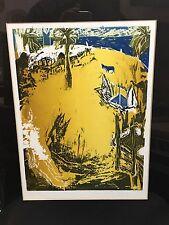 Joachim Jung Peintre Allemand  très bel estampe 35/100 1989 bel encadrement