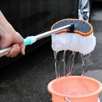 Car Adjustable Telescopic Cleaning Wiping Soft-Milk Silk-Mop Wash Brush Tool KIT