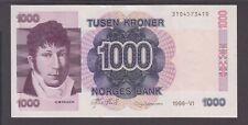 Norway banknote P. 45b-3410 1,000 Kroner 1998, Crisp, VF  We Combine