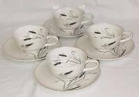4 Rosenthal BAVARIA CERES* PLATINUM WHEAT* CUPS & SAUCERS*