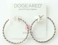 Dogeared Charcoal 22120 Beaded Hoop Earrings