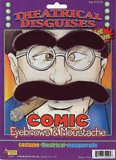 Comic Eyebrows Moustache Groucho Fancy Dress Halloween Costume Accessory