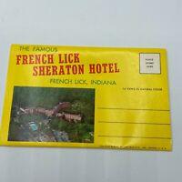 VTG French Lick IN Sheraton Hotel 14 Foldout Souvenir Prints Postcard