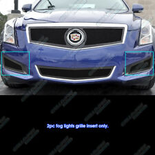 Fits 2013-2014 Cadillac ATS Logo Show Stainless Black Fog Light Mesh Grille