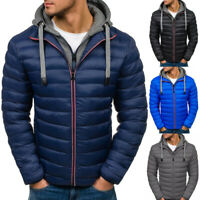 Men's Winter Warm Coat Hoodie Puffer Bubble Padded Coat Jacket Zip Up Outwear UK