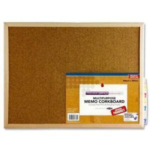 Premier Office Memo Cork Pin Wooden Frame Notice Board - Small (40x30cm)