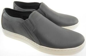 TIMBERLAND A1OJZ DAUSET CUP SOLE MEN'S DK.GREY LEATHER SLIP ON CASUAL SHOES