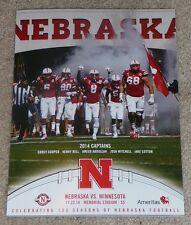 2014 Nebraska Cornhuskers vs. Minnesota Golden Gophers Football Program-11-22-14