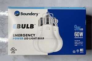 LED Emergency Light Bulb (3-Pack) Automatically Recharging Lithium Ion Battery