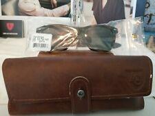 American Optical Saratoga True Color Gray Nylon Lenses Brown Demi Sunglasses NEW