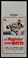 Cartel Un Escarabajo Tutto Loco Disney Volkswagen Dean Jones Love Bug N59
