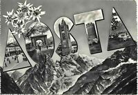 CARTOLINA AOSTA VEDUTINE 1957 BC19