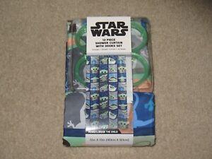 Star Wars The Mandalorian Child Baby Yoda Shower Curtain Set 70x72 Grogu Disney