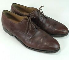 7ad2743dd07 BALLY BANBURY Brown WINGTIP Leather Dress Shoes Size 11 D MADE IN ITALY
