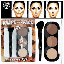 W7 Kit de contorno forma tu rostro Paleta con Cepillo en ángulo/# Nuevo