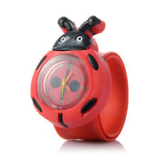 Kid Boy Girl Slap Wrist Watch Cute Cartoon Red Insects Shape Watches Gift