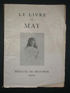 Le livre de May d'Acher de Montgascon (Enfant poete) Vie ardente Poésie 1945