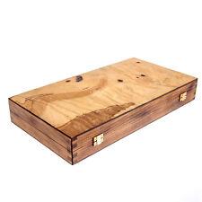 Olive Wood Backgammon Handmade Game Set - Large Size, without Slots