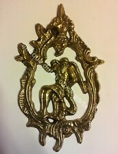 """USED WARMINK FRIESIAN TAIL CLOCK BRASS TAIL ORNAMENT 5"""" or 13 cm"""