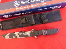 "Smith & Wesson Homeland Security Combat Knife 8.25"" Urban Camo Sawback NIB"