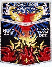 EGWA TAWA DEE 129 ATLANTA AREA FLAP 2015 NOAC 2-PATCH OA CENTENNIAL HUNGER GAMES