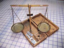 Vintage Wooden Case Gold Gem Beam Balance Measuring Scale West Germany