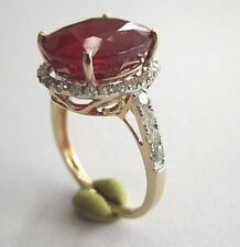14K RUBY AND DIAMOND GOLD RING SIZE 7 W/ INSURANCE APPRAISAL