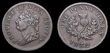 1832 Nova Scotia Token George IV One Penny Token NS-B3 BR-870 VF-30