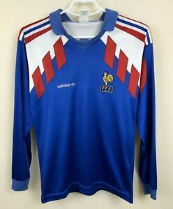 NATIONAL FRANCE 1990 1991 1992 HOME JERSEY SHIRT MAILLOT SOCCER VINTAGE BOYS 164