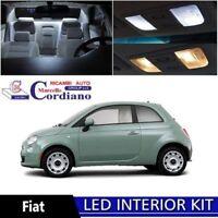 KIT FULL LED INTERNI FIAT 500 PLAFONIERA ANTERIORE + BAGAGLIAIO 6000K COMPLETO