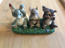 """Charming Tails """"Hear, See and Speak No Evil"""" Fitz/Floyd Figurine"""