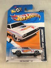 Hot Wheels 1970 '70 Dodge Hemi Challenger HW Racing 12 White r3toystore