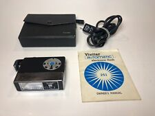 Vintage SLR Vivitar Auto 251 Shoe Mount Flash w/ Case Cable & Manual Tested
